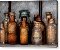Chemist - Various Chemicals Acrylic Print by Mike Savad