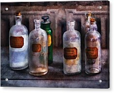 Chemistry - Saturated Solutions Acrylic Print by Mike Savad