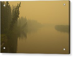 Acrylic Print featuring the photograph Chena River by Gary Lengyel
