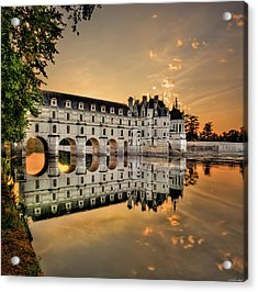 Chenonceau Castle In The Twilight Acrylic Print