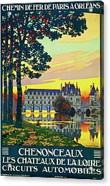 Chenonceaux, French Travel Poster Acrylic Print