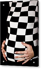 Chequered Pregnancy Acrylic Print