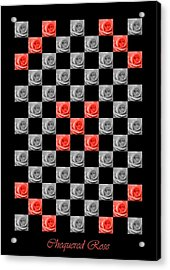 Chequered Rose Acrylic Print by Hazy Apple
