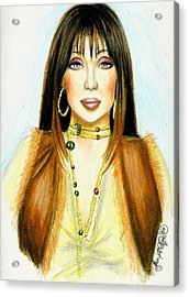 Cher Acrylic Print by Scarlett Royal