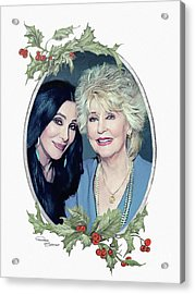 Cher With Mom Xmas Acrylic Print