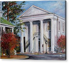 Cheraw Town Hall In The Fall Acrylic Print