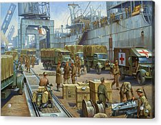 Cherbourg 1940. Acrylic Print by Mike  Jeffries