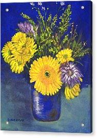 Cheris Flowers Acrylic Print by Olga Kaczmar