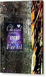 Cherish Every Tropical Moment Acrylic Print by Susan Vineyard