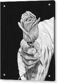 Cherished Acrylic Print by Jyvonne Inman