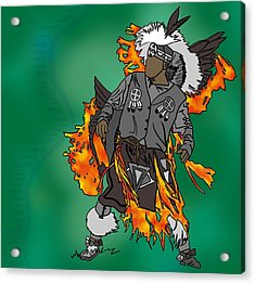 Cherokee 2 Acrylic Print by M Blaze Wolenski