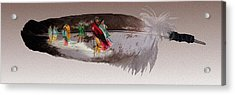 Cherokee By Blood Acrylic Print by John Guthrie