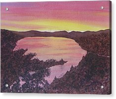 Acrylic Print featuring the painting Cherokee Lake Sunset Number Seven by Joel Deutsch
