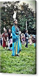 Cherokee Warrior Acrylic Print