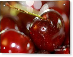 Cherries  Acrylic Print by A New Focus Photography