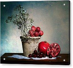 Cherries And Pommegranates Acrylic Print