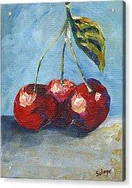 Cherries By Three Acrylic Print