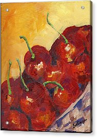 Cherries In A Basket Acrylic Print