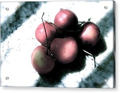 Cherries In The Light Acrylic Print by Sherry Klander