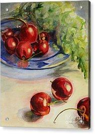 Cherries Acrylic Print by Lori McCray