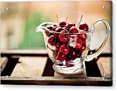Cherries Acrylic Print by Nailia Schwarz