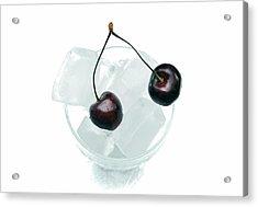 Cherries On Ice. Acrylic Print by Terence Davis