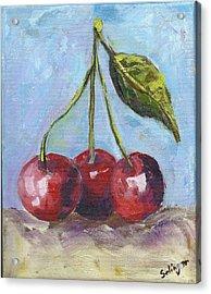 Cherries One Two Three Acrylic Print