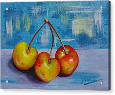Cherries Trio Acrylic Print