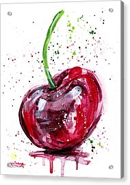 Cherry 2 Acrylic Print by Arleana Holtzmann