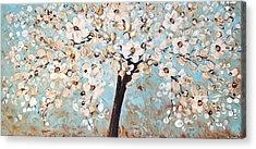 Cherry Blossoms Acrylic Print by Jolina Anthony
