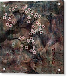 Cherry Blossoms Acrylic Print by Rachel Christine Nowicki