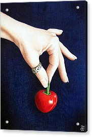 Acrylic Print featuring the drawing Cherry Bomb by Danielle R T Haney