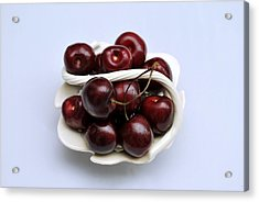 Cherry Dish Acrylic Print by Terence Davis