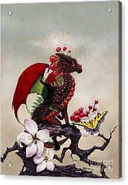Acrylic Print featuring the digital art Cherry Dragon by Stanley Morrison