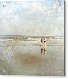 Cherry Grove Beach Walk Acrylic Print