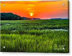 Cherry Grove Marsh Sunrise Acrylic Print