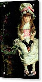 Cherry Ripe   Detail Acrylic Print by John Everett Millais