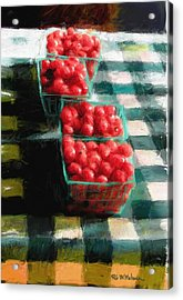 Cherry Tomato Basket Acrylic Print by RG McMahon