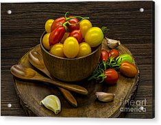 Cherry Tomatoes Still Life Acrylic Print