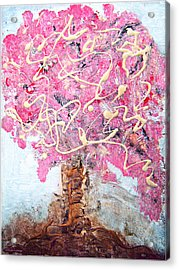 Cherry Tree By Colleen Ranney Acrylic Print