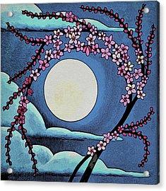Cherry Whip Moon Acrylic Print