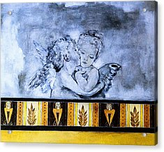 Acrylic Print featuring the photograph Cherub Friendship by Marion McCristall