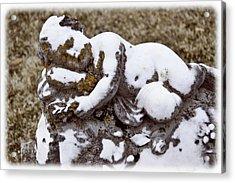 Cherub Stone Acrylic Print