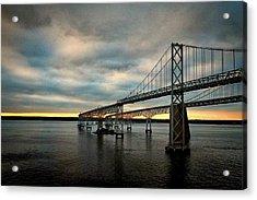 Chesapeake Bay Bridge At Twilight Acrylic Print