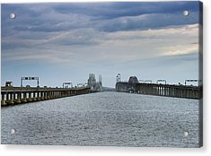 Chesapeake Bay Bridge Maryland Acrylic Print by Brendan Reals