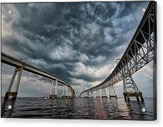 Chesapeake Bay Bridge Storm Acrylic Print