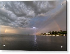 Chesapeake Bay Rainbow Lighting Acrylic Print