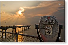 Chesapeake Bay Sunset Acrylic Print by Daniel Lowe