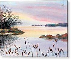 Acrylic Print featuring the painting Chesapeake Bay Sunset by Yolanda Koh