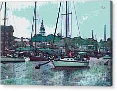 Acrylic Print featuring the painting Chesapeake Bayscape by Elinor Mavor
